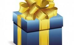 sticker-scrapbooking-cadeau-bleu-avec-ruban-jaune